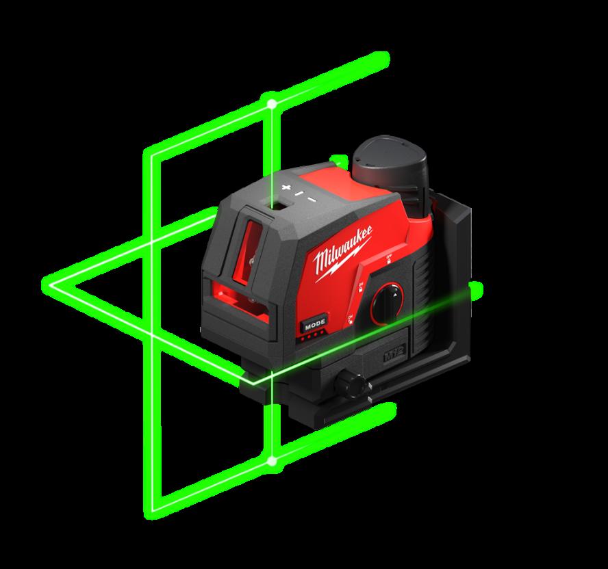 REDLITHIUM™USB Laser vert 2 lignes