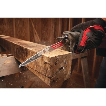 Wood with nails: AX with carbide teeth
