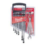 7 pc Ratcheting Metric Comb Spanner Set– 1pc