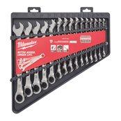 15 pc Ratcheting Metric Comb Spanner Set– 1pc