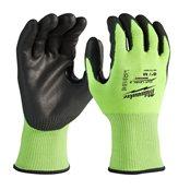 Bulk Hi-Vis Cut Level 3 Gloves - 8/M