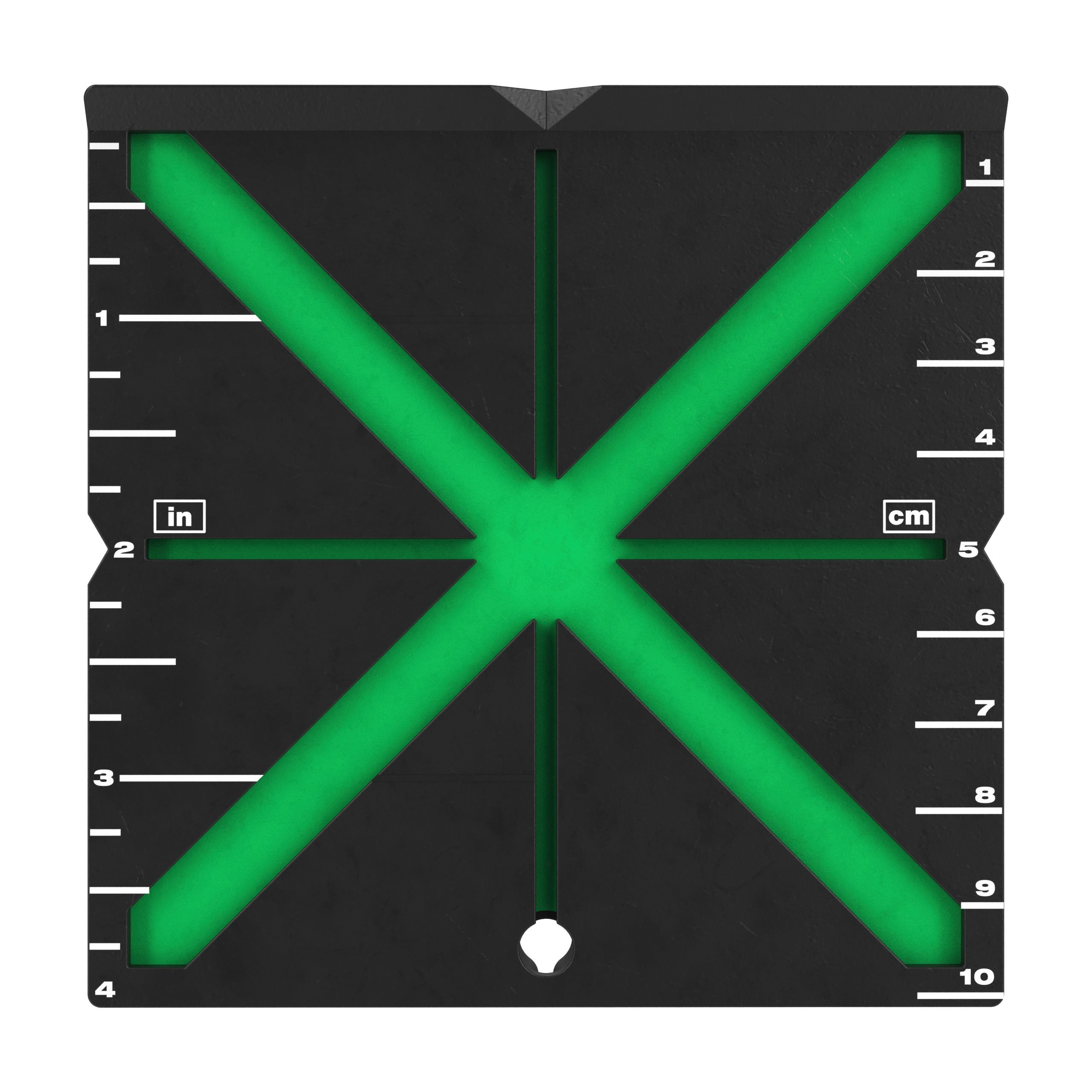High visibility laser target plate